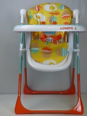 Height Adjustable High Chair w 3-Position Seat Recline Removable Tray Secure