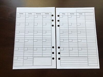 MONTHLY Undated Refill for A5 6-Ring Planner Organizer Insert (fits Filofax)