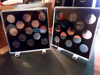 2018 A-Z 10p ACRYLIC COIN DISPLAY CASES (2 pcs). Coins not included.