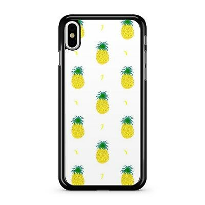 Golden Yellow Fresh Tropical Exotic Pineapple Fruit Pattern Phone Case Cover