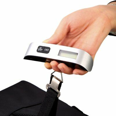 Small 50 kg / 110 lb Electronic Digital Portable Luggage Hanging Weight Scale