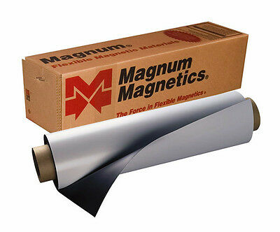 "12"" x 12"" Roll Magnum Magnetics 30 Mil. Blank White Sheet - Car, Vehicle Magnets"