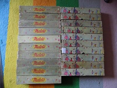 Pianola Rolls x 20 Meloto Dance + Song -illustrated colorful boxes 1920 - 1930's