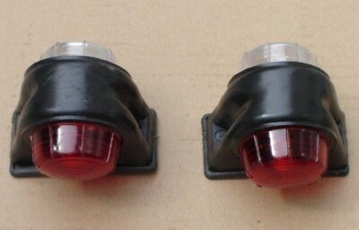 2 x Trailer Mudguard Towing Red / White Marker Lights come with 24V bulbs