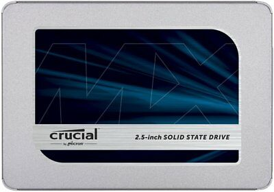 "Crucial MX500 2.5"" 250GB SATA III 3D NAND Internal Solid State Drive (SSD) CT250"