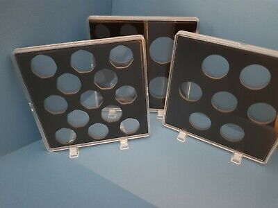ACRYLIC COIN DISPLAY CASES FOR OLD 50p, NEW 50p,10p,1 pound,2 POUNDS COINS!