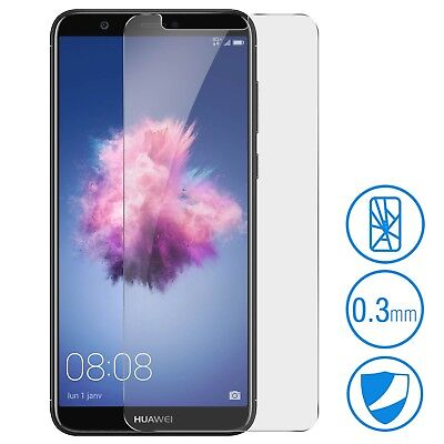 Pellicola Vetro Temperato Per Huawei P Smart + Cover Trasparente Tempered Glass