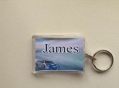Personalised Keyring/ Bag ID  - Racing Car  Design