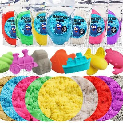 Monster Sand Magic Motion Moving Crazy Play Sand Colour Building Toy 500g