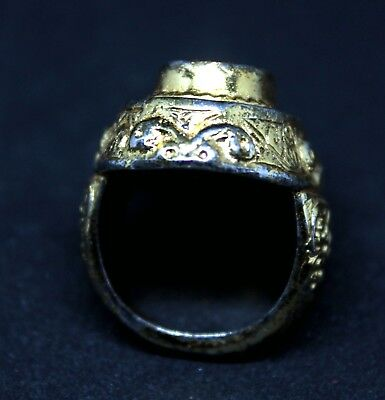 Large Post Medieval Gilt Ring beautiful