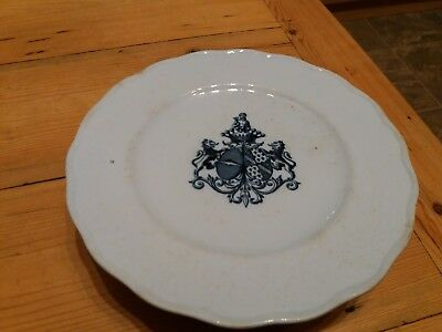 Brown-Westhead,Moore & Co. Antique cake stand with coat of arms.