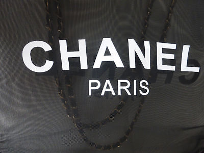 NEW VIP BEAUTY GIFT Chanel Mesh Gold Chain Black Tote Beach Travel Hand Bag