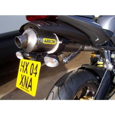 Support de plaque (avec echappement a... R&g racing LP0025BK TRIUMPH DAYTONA 675