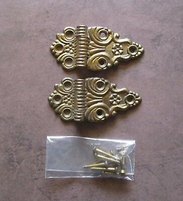 Pair of Vintage 3 1/2 inch offset hinges brass hinges