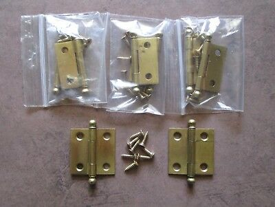 4 Pair of Vintage 1 1/2 inch ball hinges National Mfg. Co. (8 hinges in total)