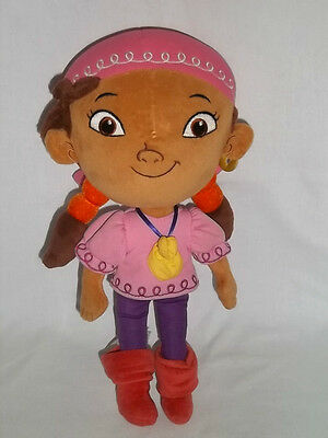 """DISNEY STORE 12"""" Plush IZZY Jake And The NeverLand Pirate PETER PAN Doll Girl"""