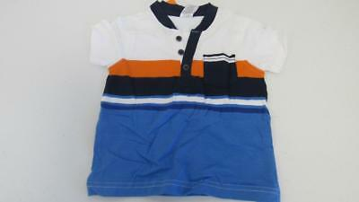Gymboree Stripes in Space Orange White Blue Top Shirt Size 12-18 Months NEW