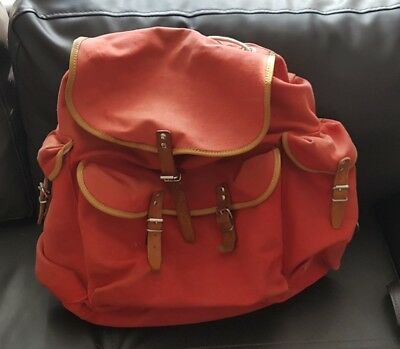 Vintage Canvas Rucksack/Backpack with leather Straps