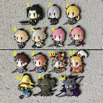 FINAL FANTASY Anime Figure Rubber Strap Keychain Keyring Charm Bag Pendant VOL 7