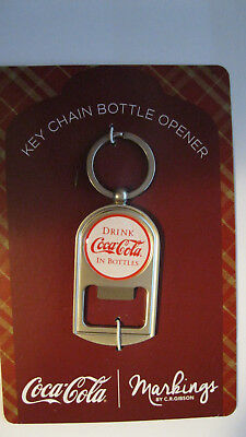 Markings by CR Gibson - White Coca-Cola Key Chain Bottle Opener - Brand NEW