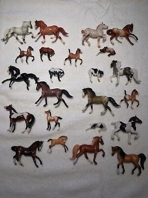 Breyer Horse Stablemates. This Lot Consists of 13 Horses and 10 Foals.