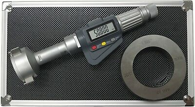 "3-Point Internal Micrometer Hole Bore Gauge Gage, 1.6-2"" / 0.00005""(0.001mm)"