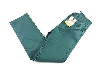 Levis 511 Kids Boys Slim Fit Tapered Green Jeans Pants Waterlog Blackfill New