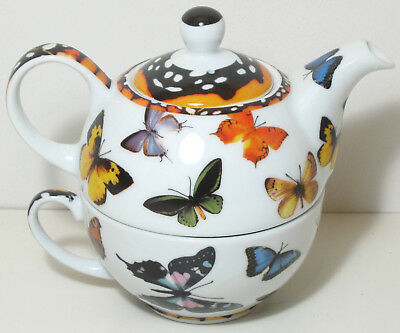 "Butterfly Betty"" Style Tea for One 16oz Teapot  by Paul Cardew NIB Free Ship"