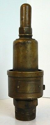 Antique Brass Steam / Air Blow-Off, The Consolidated Safety Valve Co., Whistle