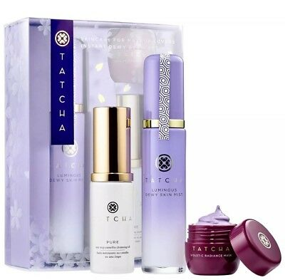 TATCHA Skincare For Makeup Lovers - 🌹Instant Dewy Glow Set 100%Authentic!!