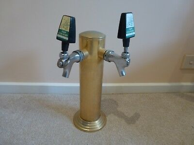 Brass Wine/Beer Tower with two taps