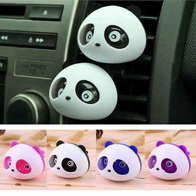 Panda Animal Car Air Vent Clip on Essential Oil Diffuser Freshener Aromatherapy