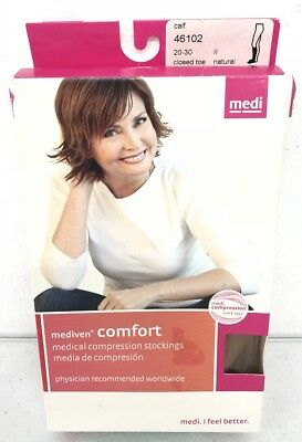 Mediven Medical Compression Stockings Socks NEW Calf Closed Toe 46102 20-30 mmHg