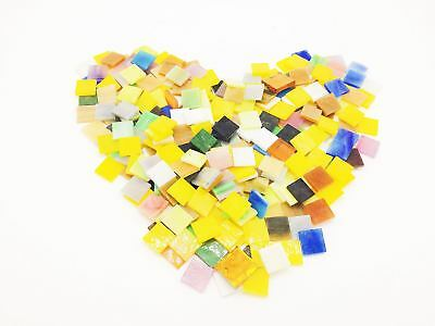 100pcs Mixed Color Mosaic Tiles Mosaic Glass Pieces for decoration or DIY Crafts