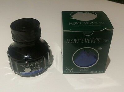MONTEVERDE FOUNTAIN PEN INK 90ml 3oz MALIBU BLUE G308BU