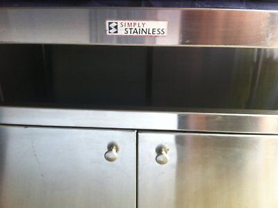 Simply Stainless Kitchen Work Bench With Doors And Sides