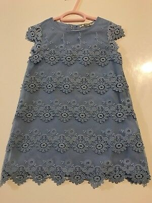 Mayoral Blue Lace Girls Dress Baby Size 2
