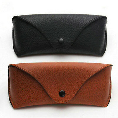 Unisex Vintage Leather Glasses Case Causal Belt Eye glasses Box Bag Protable