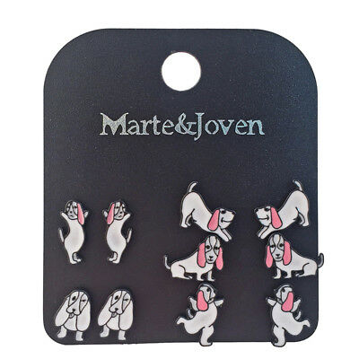 5 Pairs/set Basset Hound Earring Set for Women Unique Dog Lovers Gifts Jewelry