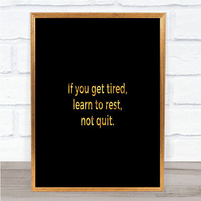 DON/'T YOU QUIT POEM MOTIVATION TYPOGRAPHY QUOTE FRAMED ART PRINT MOUNT B12X13895