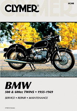 BMW R50 R60 R69 BMW 500 600 Twin 1955-1969 Clymer Manual M308 NEW