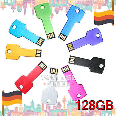 128GB USB 2.0 Metall i Flash Drive Memoire Speicherstick Für PC Notebook Neu