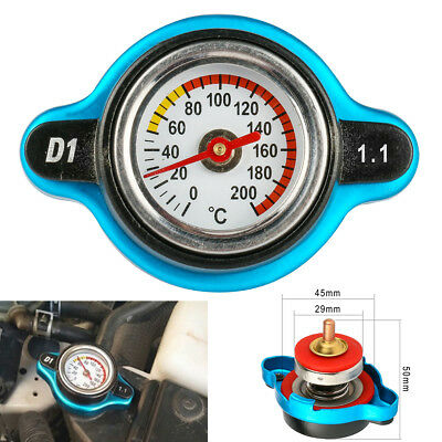 1.1bar Thermost Radiator Cap Cover Large Head Water Temperature Gauge Car Truck