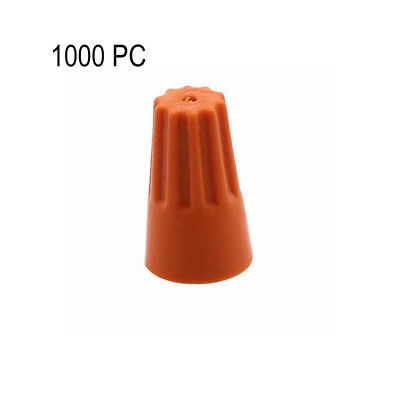 1000XAssorted Electrical Wire Twist Connectors Terminals Cap Nut Rotating Orange