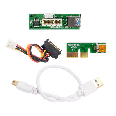Mini PCIE PCI Express Extension 1X Riser Card Power USB Extender Cable AC1291