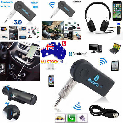 AU 3.5mm Wireless Car Bluetooth Adapter Receiver Auto AUX Audio Stereo Music