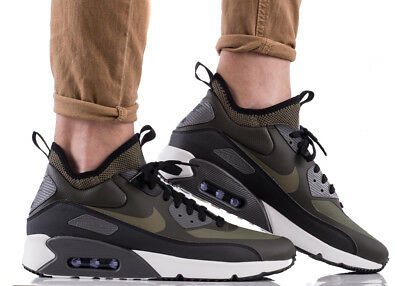 NIKE AIR MAX 90 ULTRA MID chaussures hommes montantes sport kaki 924458-002