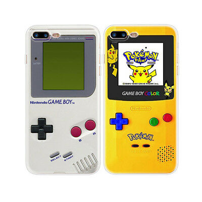 For iPhone 5 5S 6 6S 7 8 Plus X Game Boy Pattern Slim Soft TPU Back Phone Case