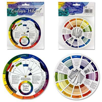 Pocket Colour Wheel Tool Mixing Paint Learning Artist Kids Guide Create Shades