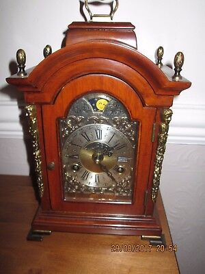 Warmink Wuba Moon Phase mahogany bracket clock